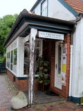 Ένα μικρό κατάστημα του χειροποίητου κλωστοϋφαντουργικού προϊόντος ύφανση Στοκ Φωτογραφία