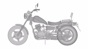 Ένα μικρό κλασικό ποδήλατο μπαλτάδων Το πρότυπο περιστρέφεται γύρω από το κέντρο απόθεμα βίντεο