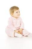 Ένα μικρό μωρό τρώει τη Apple Στοκ Εικόνες