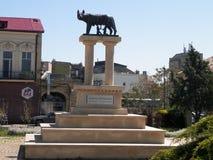 Ένα μνημείο σε Romulus και Remus σε Constanta, Ρουμανία στοκ φωτογραφίες