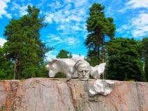 Ένα μνημείο σε Sibelius Στοκ Φωτογραφίες