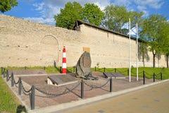 Ένα μνημείο στους ναυτικούς και τους ναυτικούς διοικητές στο ανάχωμα στοκ φωτογραφία με δικαίωμα ελεύθερης χρήσης