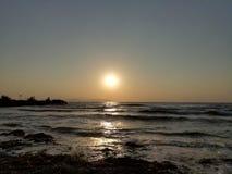 Ένα μοναδικό ηλιοβασίλεμα σε KuÅŸadası στοκ εικόνα