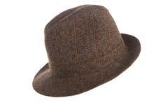 Ένα μοντέρνο καφετί καπέλο σφαιριστών Στοκ Εικόνα