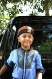 Ένα μουσουλμανικό παιδί χαμογελά Στοκ φωτογραφίες με δικαίωμα ελεύθερης χρήσης