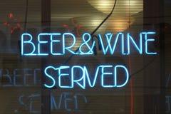 Μπύρα και κρασί στοκ εικόνες με δικαίωμα ελεύθερης χρήσης