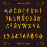 Ένα μυθικό αλφάβητο με τους αριθμούς Στοκ φωτογραφίες με δικαίωμα ελεύθερης χρήσης