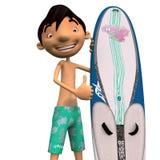Ένα νέο surfer Στοκ Εικόνες
