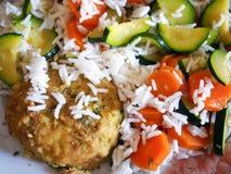 Ένα νόστιμο vegan πιάτο Στοκ Εικόνες