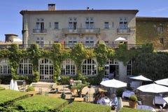 Ένα ξενοδοχείο στην ενισχυμένη πόλη του Carcassonne Στοκ φωτογραφία με δικαίωμα ελεύθερης χρήσης