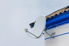 Ένα δορυφορικό πιάτο Στοκ Φωτογραφίες