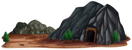 Ένα ορυχείο Stone στη φύση απεικόνιση αποθεμάτων