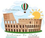 Ένα ορόσημο Colosseum Ρώμη Ιταλία απεικόνιση αποθεμάτων