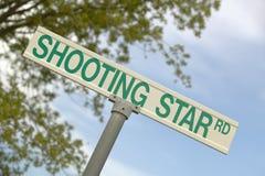 Ένα οδικό σημάδι στο AZ διαβάζει ï ¿ ½ το πυροβολισμό Starï ¿ ½ Στοκ Εικόνες