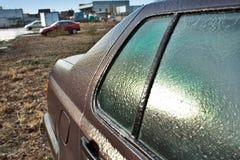 Ένα παγωμένο αυτοκίνητο Στοκ Φωτογραφίες