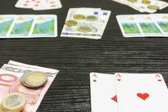 Ένα παιχνίδι του πόκερ Στοκ φωτογραφία με δικαίωμα ελεύθερης χρήσης