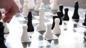 Ένα παιχνίδι του σκακιού απόθεμα βίντεο