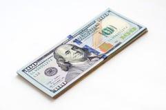 Ένα πακέτο των τραπεζογραμματίων αμερικανικών δολαρίων Στοκ εικόνες με δικαίωμα ελεύθερης χρήσης