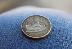 Ένα παλαιό και παλαιό ινδικό νόμισμα Στοκ εικόνα με δικαίωμα ελεύθερης χρήσης