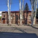 Ένα παλαιό κτήριο σε Slavyansk, τώρα εδώ είναι ένας κλάδος της υπηρεσίας ασφάλειας της Ουκρανίας στοκ εικόνες