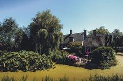 Ένα παλαιό σπίτι στην πράσινη λίμνη στοκ φωτογραφία με δικαίωμα ελεύθερης χρήσης