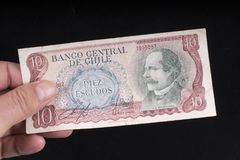 Ένα παλαιό της Χιλής τραπεζογραμμάτιο Στοκ φωτογραφίες με δικαίωμα ελεύθερης χρήσης