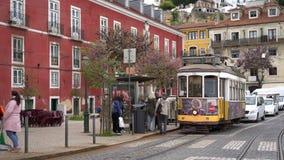 Ένα παλαιό τραμ στη Λισσαβώνα φιλμ μικρού μήκους