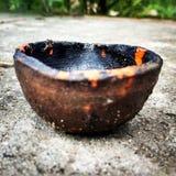 Ένα παραδοσιακό Diya (λαμπτήρας) Στοκ φωτογραφίες με δικαίωμα ελεύθερης χρήσης