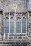 Ένα παλαιό γοτθικό παράθυρο καθεδρικών ναών Στοκ Εικόνες