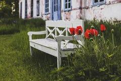 Ένα παλαιό κάθισμα πάγκων Στοκ Φωτογραφίες