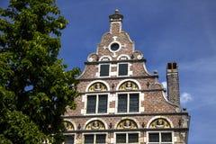 Ένα παλαιό τούβλο που χτίζει το τεμάχιο της Γάνδης Βέλγιο Στοκ Εικόνα