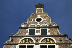 Ένα παλαιό τούβλο που χτίζει το τεμάχιο της Γάνδης Βέλγιο Στοκ φωτογραφία με δικαίωμα ελεύθερης χρήσης