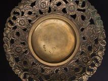 Ένα περίκομψο πιάτο ορείχαλκου Στοκ εικόνες με δικαίωμα ελεύθερης χρήσης