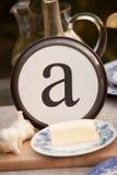 ` Ένα πιάτο επιστολών ` Στοκ φωτογραφίες με δικαίωμα ελεύθερης χρήσης