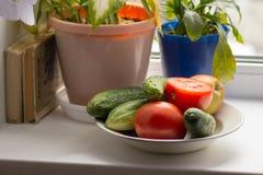 Ένα πιάτο με τα λαχανικά Στοκ φωτογραφίες με δικαίωμα ελεύθερης χρήσης