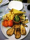 Ένα πιάτο με τα λαχανικά Στοκ φωτογραφία με δικαίωμα ελεύθερης χρήσης