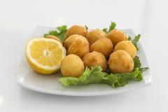 Ένα πιάτο με croquettes Στοκ Φωτογραφία