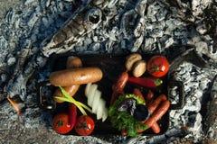Ένα πιάτο στους κρύους άνθρακες Στοκ εικόνα με δικαίωμα ελεύθερης χρήσης