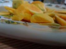 Ένα πιάτο του μάγκο Στοκ εικόνα με δικαίωμα ελεύθερης χρήσης