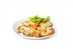 Ένα πιάτο του χοιρινού κρέατος Στοκ Εικόνες