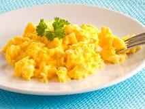 Ανακατωμένα αυγά Στοκ φωτογραφίες με δικαίωμα ελεύθερης χρήσης