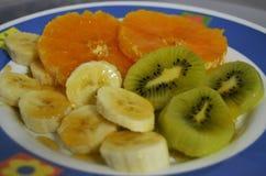 Ένα πιάτο των φρούτων στοκ εικόνα