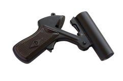 Ένα πιστόλι σημάτων που απομονώνεται στο άσπρο υπόβαθρο Στοκ Εικόνες