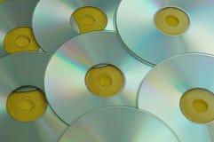 Ένα πλήρες πλαίσιο των CD Στοκ εικόνες με δικαίωμα ελεύθερης χρήσης