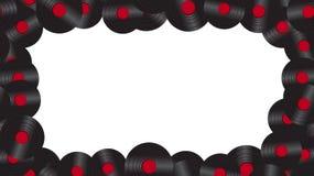 Ένα πλαίσιο από το ακουστικό βινυλίου αρχείο μουσικής στο υπόβαθρο των 60 ` s, 70 ` s, 80 ` s, 90 ` s εθνικό verdure ανασκόπησης  διανυσματική απεικόνιση