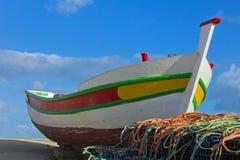 Ένα πορτογαλικό αλιευτικό σκάφος στοκ εικόνα με δικαίωμα ελεύθερης χρήσης