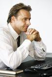 Ένα πορτρέτο του επιχειρηματία στην αρχή Στοκ φωτογραφία με δικαίωμα ελεύθερης χρήσης