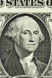 Ένα πορτρέτο του George Washington στο τραπεζογραμμάτιο σε ένα αμερικανικό δολάριο Στοκ Εικόνες