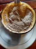 ένα ποτήρι του καφέ capucino στοκ φωτογραφία