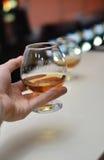 Ένα ποτήρι του κονιάκ Στοκ Εικόνες